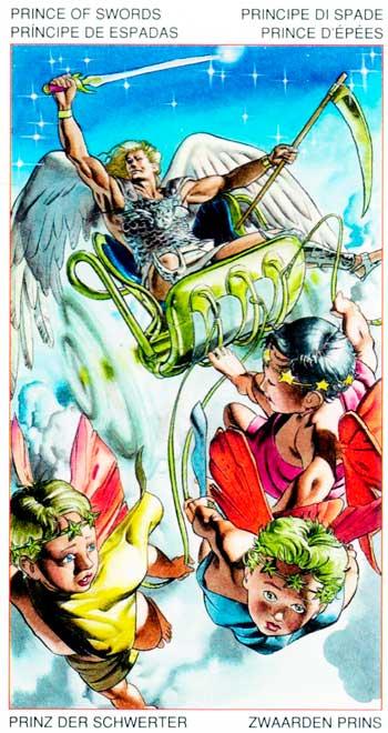 Rey de Espadas - Arcanos Menores - Golden Dawn Tarot