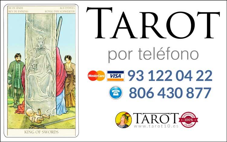 Rey de Espadas de los Arcanos Menores del Tarot - Tarot por Teléfono