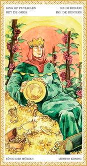 Rey de Oros - Arcanos Menores del Tarot