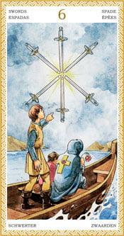 Seis de Espadas - Arcanos Menores del Tarot