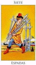 Siete de Espadas - Arcanos Menores del Tarot - Radiant
