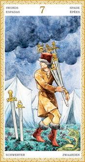 Siete de Espadas - Arcanos Menores del Tarot