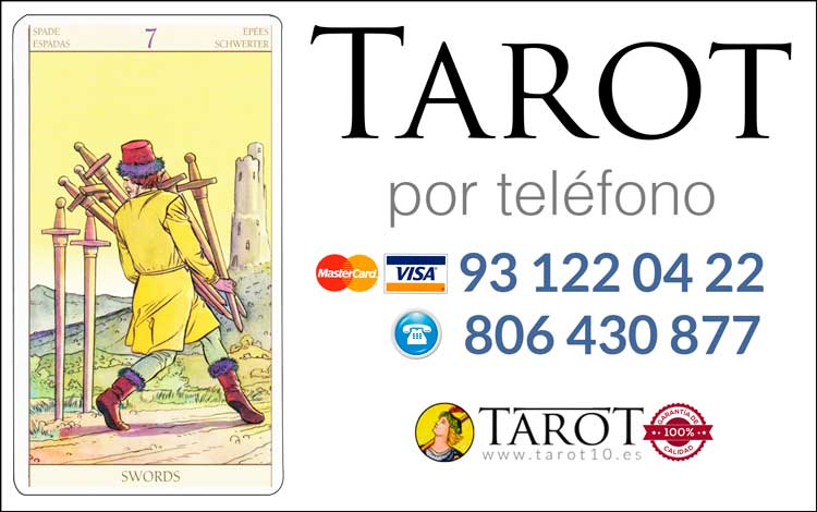 Siete de Espadas de los Arcanos Menores del Tarot - Tarot por Teléfono