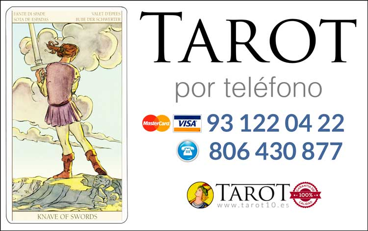 Sota de Espadas de los Arcanos Menores del Tarot - Tarot por Teléfono