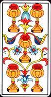 Cinco de copas en una tirada de Tarot - Tarot10